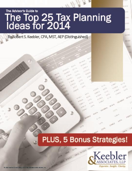 Robert-Keebler-Top-25-Tax-Planning-Ideas-2014 (1)