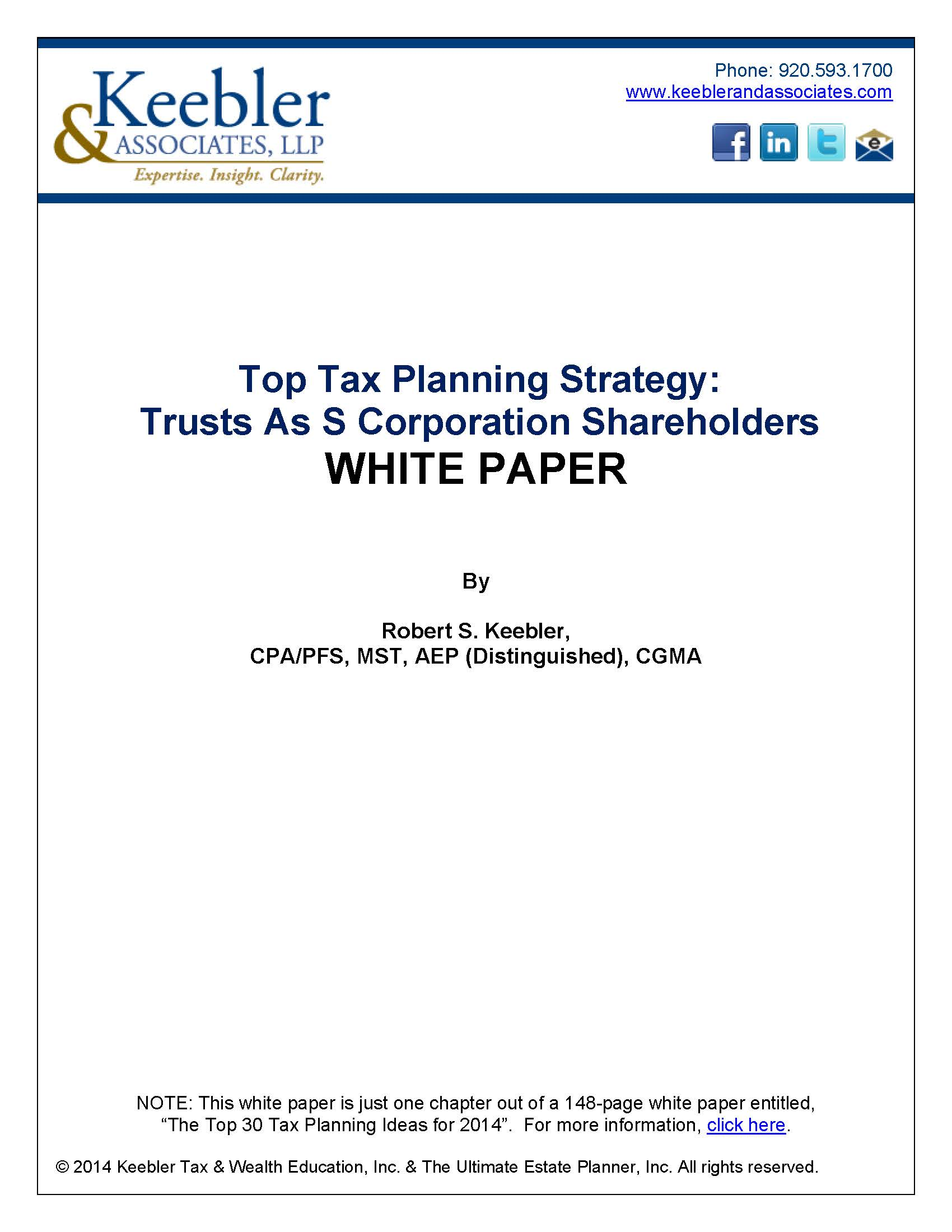 Trusts as S Corporation Shareholders