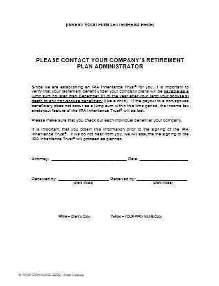 Client forms handouts ultimate estate planner for Crummey letter template