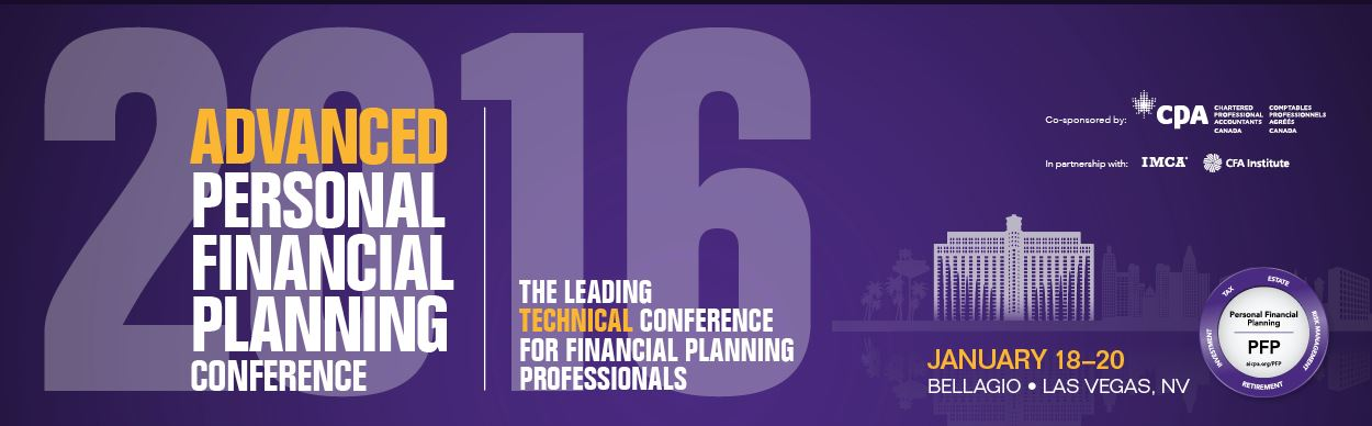 AICPA's 2016 Advanced Personal Financial Planning Conference