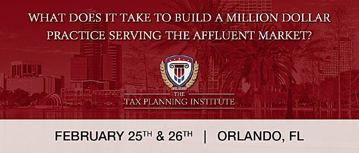 The Tax Planning Institute Summit - 2