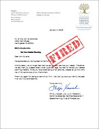 Client Termination Letter Template  Ultimate Estate Planner