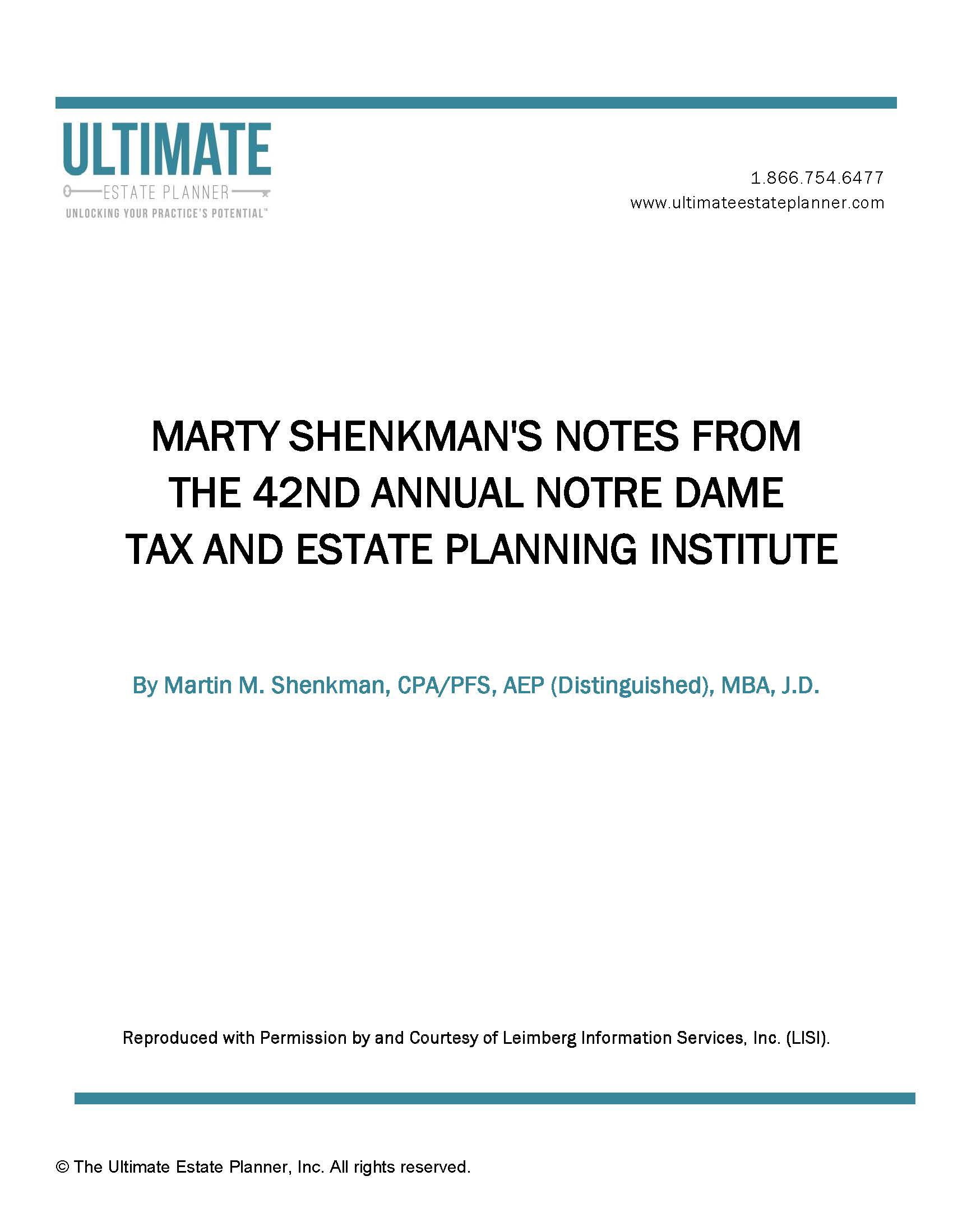 42nd-annual-notre-dame-tax-and-estate-planning-institute-summary-notes